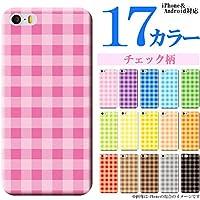 iPhone7 (アイフォン7  4.7インチ用) スマホケース カバー(ハードケース) / チェック柄/ストライプ・ボーダー/カラフル【1023Q】 茶色/ブラウン