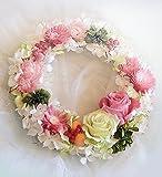 Pastel Color Rose Wreath【プリザーブドフラワー ドライフラワー リース】