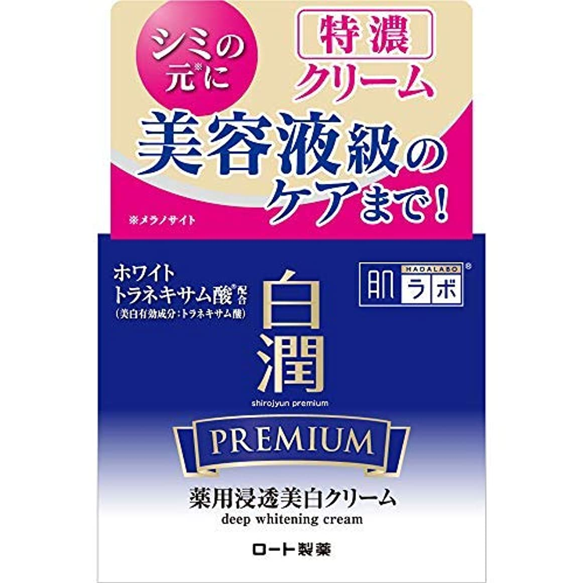 動く契約した拡声器肌ラボ 白潤プレミアム 薬用浸透美白クリーム × 10個セット