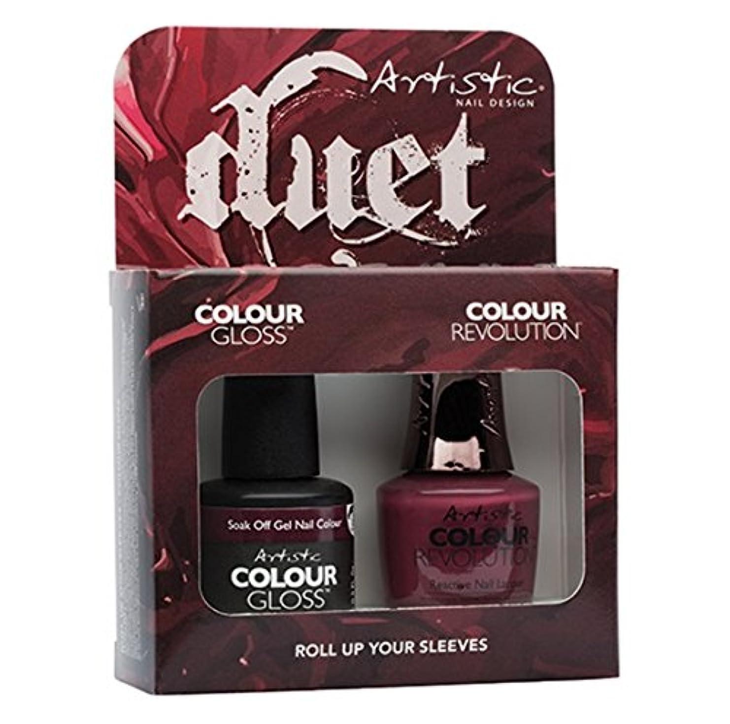 ハウス並外れてテクニカル-Artistic Nail Design - Duet Gel & Polish Duo - Roll Up Your Sleeves - 15 mL / 0.5 oz