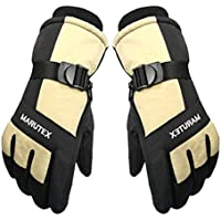 防風スポーツウェアスノーボードスキーサイクリングモーターサイクル手袋ベージュ