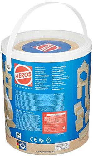 HEROS 筒入り積み木 白木 100P (2012年リニューアル) HR−1031