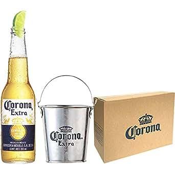 【Web限定】コロナ・エキストラ ボトル [ メキシコ 355ml×6本 カトラリーバケツ付きセット ]