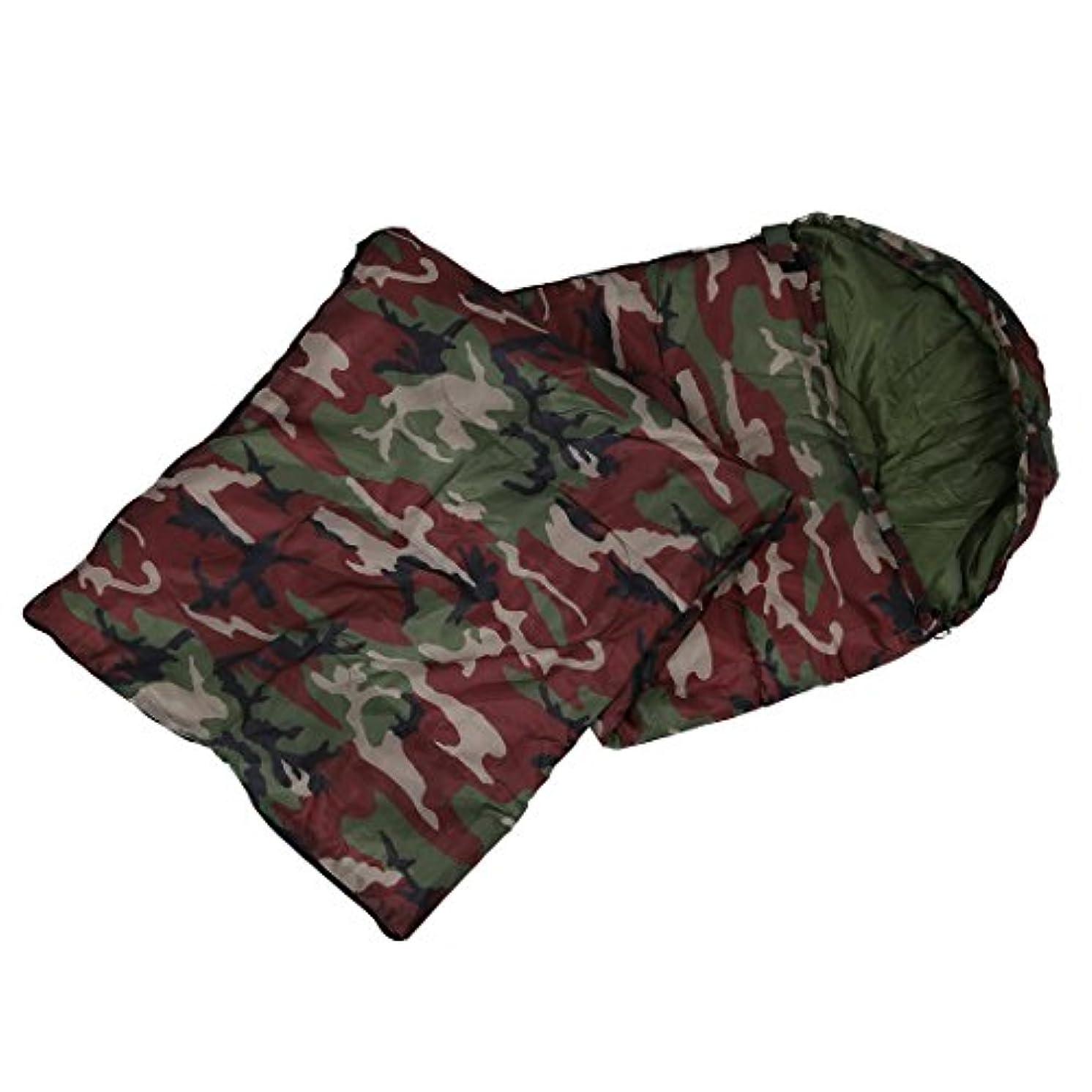 着実に学期ハンディキャップACAMPTAR 上質コットンキャンプ用寝袋15度摂氏?5度摂氏デグリー 封筒スタイル、迷彩寝袋