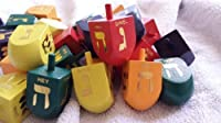 Colorful Wooden Deluxe Tall Dreidels in Bulk Pack by Judaica [並行輸入品]