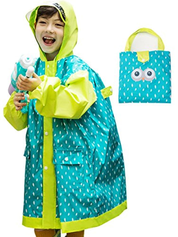 nicoly(ニコリー) レインコート キッズ ランドセル可 カッパ 子供 雨具 携帯ポーチ付