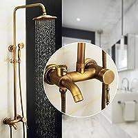 ヴィンテージ壁のすべてのブロンズシャワー組み合わせシャワー雨シャワーヘッドハンドヘルドセットバスシャワーミキサーセット高級で作成とアセンブリ部屋雨コンボEasy to Clean and the Affi Xing、B