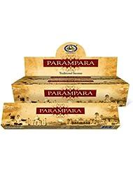 Incense Sticks ParamparaサイクルAgarbatti 3 – 12パックMasala Sticksフローラルな香り 12 Pack