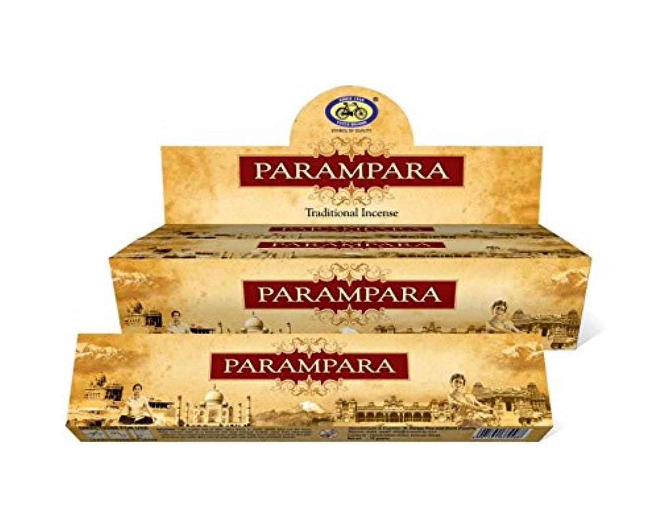 運河救い十分なIncense Sticks ParamparaサイクルAgarbatti 3 – 12パックMasala Sticksフローラルな香り 12 Pack