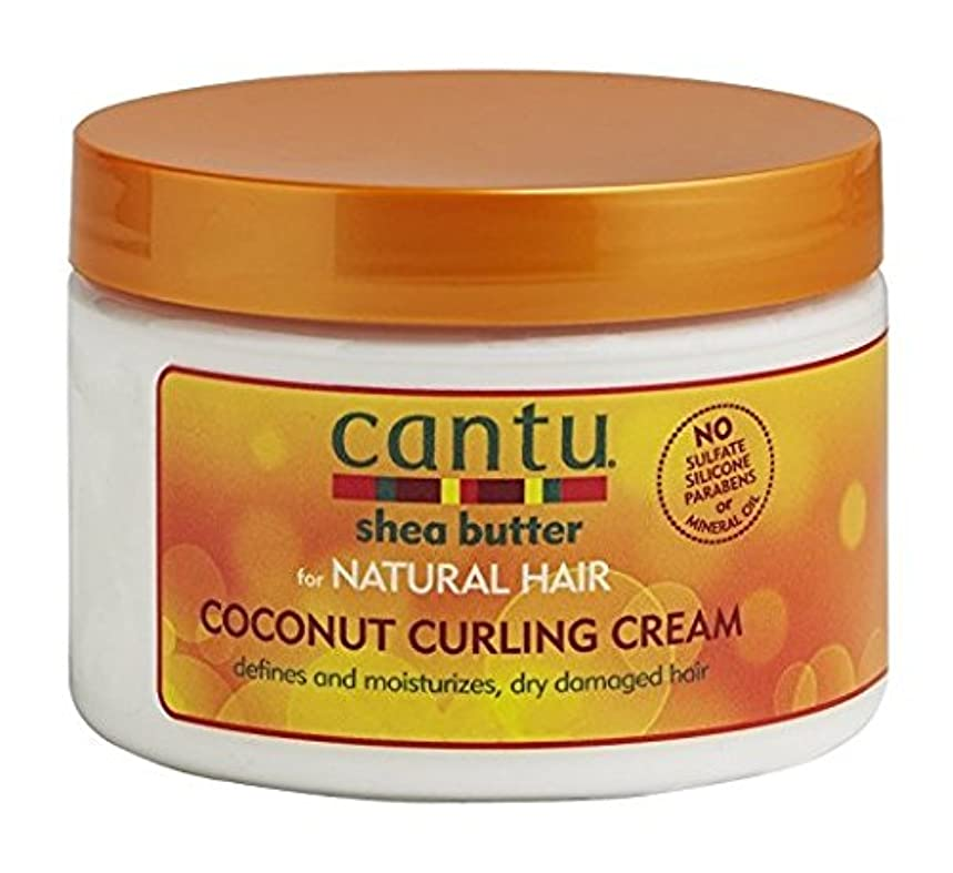 学習バー感謝Cantu Shea Butter for Natural Hair Coconut Curling Cream 340g