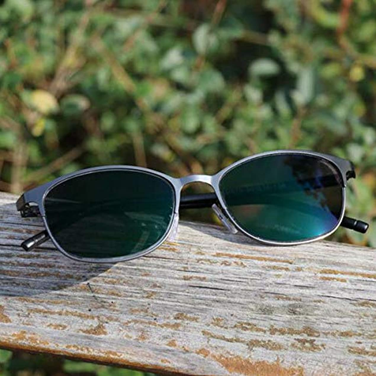常識迅速ダイアクリティカルFidgetGear フォトクロミック老眼鏡眼鏡カラーチェンジレンズメタルフレームサングラス 褐色
