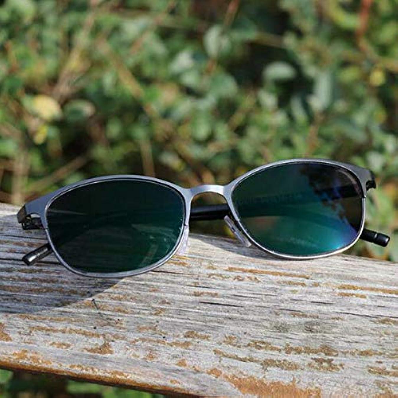 FidgetGear フォトクロミック老眼鏡眼鏡カラーチェンジレンズメタルフレームサングラス 赤