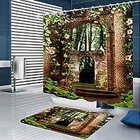 どのように-シャワーカーテン @ シャワーカーテン&フック コンテンポラリー ポリエステル ノベルティ柄 防水 浴室,180x200 cm