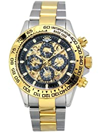 J.HARRISON ジョン・ハリソン 自動巻き腕時計両面スケルトンJH-003-GB
