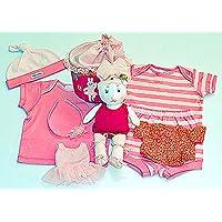 布おもちゃ 肌着 布の着せかえ 布の着せ替えバッグ バレリーナバニー&ボディ肌着4点セット&おまけ付きカチューシャ プリティギフトセツト  幼児教育