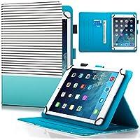 6.5–10.5インチタブレットケース、DteckユニバーサルFasion PUレザーFolioプロテクターケース[カード/ Moneyスロット]マルチアングルスタンドシェルカバーすべて6.5–10.5インチタッチスクリーンタブレットiPad Galaxy Androidタブレット For 7.5-8.5 inch tablet