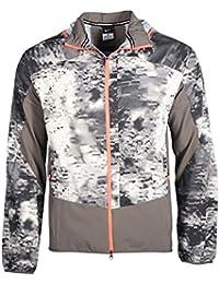 NikeメンズプリントTrail Kiger runningジャケットグレー/ホワイト/赤外線