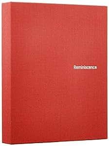 SEKISEI アルバム ポケット ハーパーハウス レミニッセンス ミニポケットアルバム カードサイズ 80枚収容 チェキ/カード 51~100枚 布 レッド XP-80C