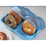 Bagel Fresh Container - 6 Fresh Bagel Keeper & Airtight Storage