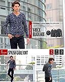 ニット メンズ カットソー セーター カシミアタッチ Vネック ニットソー 薄手 ニットセーター【q146】 スペード画像②