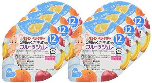 キユーピー 3種のくだもののフルーツジュレ 12ヵ月頃から 70g×6個
