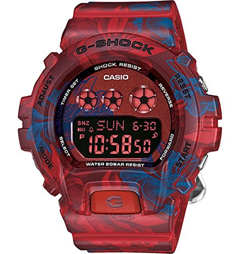 Casio G - Shock Sシリーズレッドandブルー...