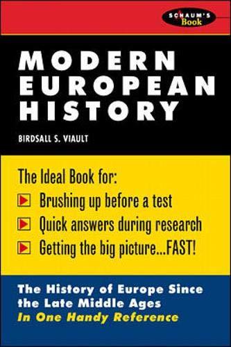 Download Schaum's Outline of Modern European History 0070674531