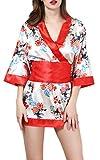 (ビグッド)Bigoodレディース浴衣ドレス+Tショーツセットコスチュームベビードールランジェリーパジャマ寝間着ルームウェアナイトウェア花柄