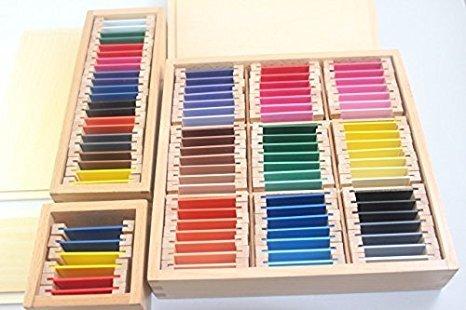 色板第1、2、3の箱セット - モンテッソーリ感覚教育 Montehippo.com
