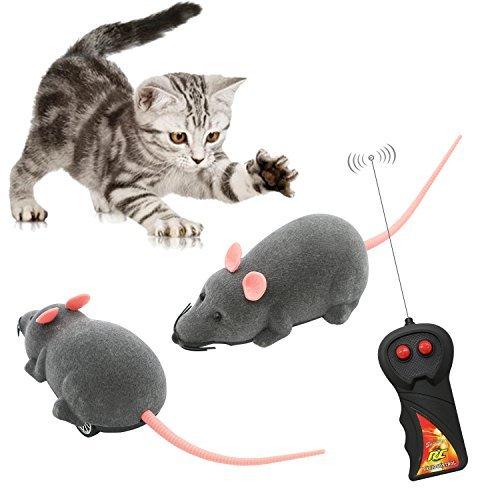 Beito 猫おもちゃ 電動ネズミ 猫じゃらし ペット玩具 犬猫ダイエット 運動不足解消 ネズミ型ラ...