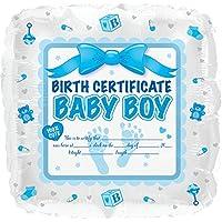 Creative Converting CTI Mylar BalloonsベビーBoy誕生証明書、17インチ、ブルー、5のパック