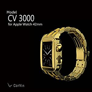 【CorVin】Premium Accessories for Apple Watch 42mm(CV3000シリーズ) ゴールド/メタルバンド 【CV-AW3000GG】 AppleWatchケース