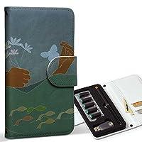 スマコレ ploom TECH プルームテック 専用 レザーケース 手帳型 タバコ ケース カバー 合皮 ケース カバー 収納 プルームケース デザイン 革 ユニーク 人物 イラスト 006873