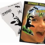 Halloween Face Painting Stencil - StencilEyes Profile Zombie Hand by ShowOffs Body Art