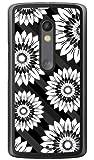 YESNO フラワーストライプ ブラック (クリア) / for Moto X Play XT1562/MVNOスマホ(SIMフリー端末) MMRXPY-PCCL-201-N048 MMRXPY-PCCL-201-N048