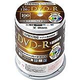 山善 キュリオム DVD-R 100枚スピンドル 16倍速 4.7GB 約120分 デジタル放送録画用 DVDR16XCPRM 100SP