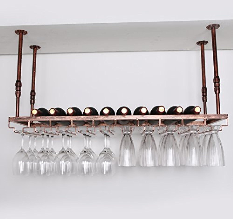 ワイングラスラック、ワイングラスラック、シャンペングラスラック、ハンギングレッドワインカップホルダー、吊り下げガラスホルダー、クリエイティブホームバー、ワインラックハンギングガラスホルダー (色 : ブロンズ, サイズ さいず : 100 * 30cm)