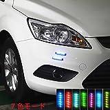 ソーラーイルミネーション ソーラー充電 7色led 警告 ランプ ライト ドア バンパー エッジ  プロテクター ガード 外装 アクセサリー 装飾 傷防止 静電気軽減 両面テープ 取り付け簡単