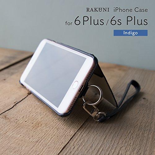 『RAKUNI (ラクニ) iPhone 6/6s Plus用 本革 背面ポケット 財布型 ストラップ付き レザーケース(スタンド機能)(iPhone 6/6s Plus用) (インディゴ)』の4枚目の画像