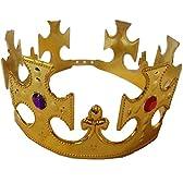 コスプレ小物 王冠 王様の冠 キングクラウン フリーサイズ (ゴールド)
