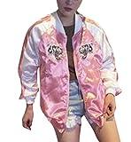 LIGLI (リグリ) スカジャンジャケット タイガー刺繍 収納袋セット ピンク S