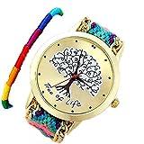 ミサンガ ウォッチ ブレスレット 腕時計 バングル カラフル (A1)
