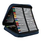 niceeshop ( TM ) Handy Wareableオックスフォード鉛筆ケースfor Colored Pencils–120スロット鉛筆ホルダーブルー 24.5cm*21cm*5.5cm ブルー