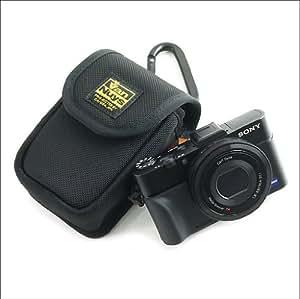 バンナイズ SONY ( ソニー ) Cyber-shot ( サイバーショット ) RX100 M2 用 縦型 キャリングケース ( バリスティック ナイロン製 / ブラック )