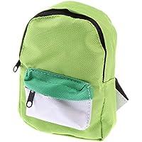 ノーブランド品  布製 スクールバッグ バックパック  18インチガールボーイ人形アメリカンガール人形用 5色選べる - 緑
