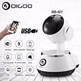 Digoo Smart Wireless Baby Monitor Home Security IP Camera HD 720P Intercom Audio BB-M1
