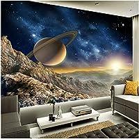 Xbwy カスタム任意サイズ壁画壁紙3Dステレオ惑星ムーン壁画レストランクラブKtvバー現代の装飾-350X250Cm