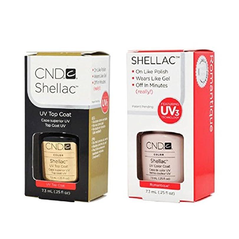 あるあいさつインスタントCND Shellac UVトップコート 7.3m l  &  UV カラーコー< Romantique>7.3ml [海外直送品]