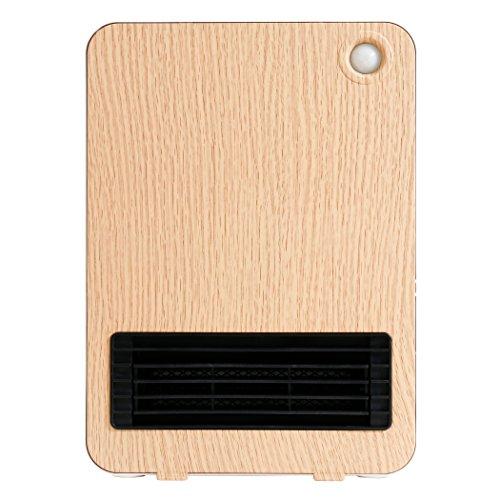 セラミックファンヒーター 省エネ 暖房器具 小型 電気 コンパクト 洗面所 速暖【SOLEIL】 … (ナチュラル)
