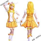 スマイルプリキュア キュアピース コスプレ 衣装 wh124(女性Lサイズ)